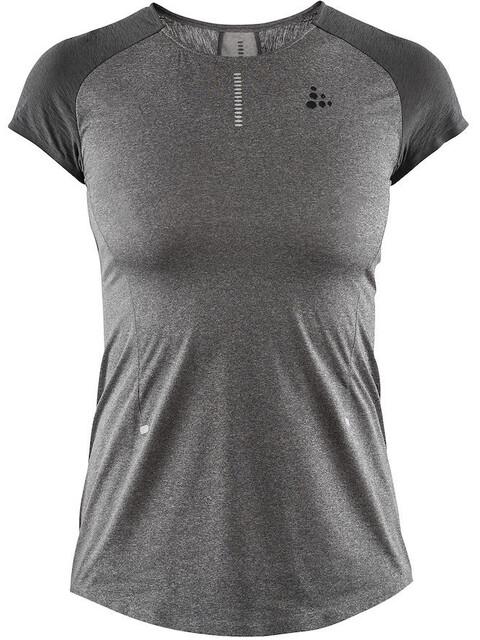 Craft Nanoweight Hardloopshirt korte mouwen Dames grijs